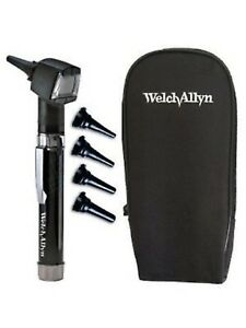 new Elch Allyn Junior Otoscope Pocketscope Set With Handle And Soft Case