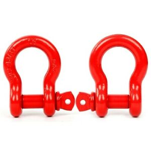 2 Red Shackles 3 4 Galvanized D Ring Marine Anchor Bow Screw Pin Us