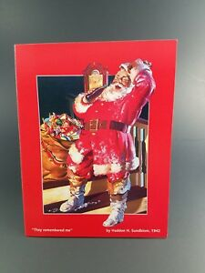 16 Vintage Coca Cola They Remembered Me Christmas Cards and Envelopes