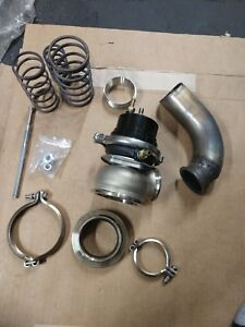 60mm External Wastegate For Turbocharger W dump Pipe tube Clamps Flanges Springs