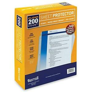 200 Clear Super Heavyweight Sheet Protectors 4 7 Mil Thickness Top Loading 3