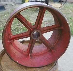 Vintage Stationary Engines Tractor Pto Flat Belt Pulley Drive 6 X 8