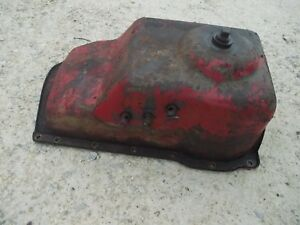 Mccormick Farmall F12 Tractor Ih Engine Motor Oil Pan Pet Cocks Plug No Dent