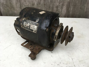 Antique Emerson Electric 1 4 Hp 110v Frame C56 Type S Inductive Motor Spins