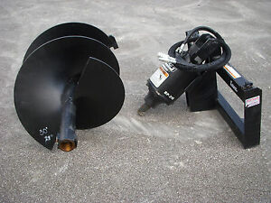 Bobcat Skid Steer Attachment Lowe Bp210 Round Auger With 30 Bit Ship 199