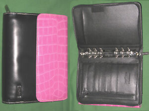 Compact 1 25 Pink Reptile Faux Leather Franklin Covey Day One Planner Binder