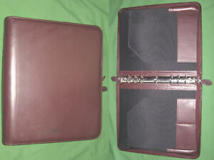 Folio 1 0 Red Leather Day Timer Planner 8 5x11 Monarch Franklin Covey 8198