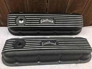 Edelbrock Classic Cast Aluminum Valve Cover Big Block Chevy 41853 396 454 427