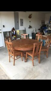 Antique Oak Dining Room Set
