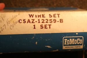 Nos 1965 66 427 Cobra Fairlane Plug Wires Fomoco Boots 0330 Print On Wires
