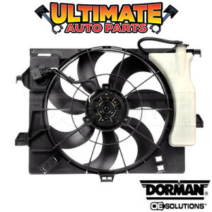 Radiator Cooling Fan W Overflow 1 6l For 13 14 Kia Rio Hatchback Automatic