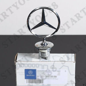 Mercedes Benz Star Badge Hood Logo Chrome Emblem W123 W126 W201 W124