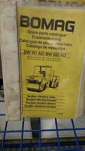 Bomag Bw 161ad 202 Ad2 Tandem Vibratory Roller Spare Parts Catalogue 00810058