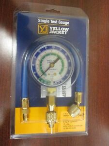 Yellow Jacket Single Gauge Lo side Manifold W 12 Blue Hose R12 r22 r502 40342