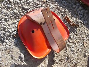 Case Vao Tractor Seat Assembly W Flip Over Pan Spring Bracket Mount