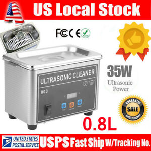 0 8l Digital Ultrasonic Cleaner Cleaning Bath Jewelry Eyeglasses Dental Part Zb