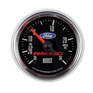 Auto Meter Ford Racing 52mm Full Sweep Elect 30 In Hg Vac 30 Psi Vac Boost Gauge
