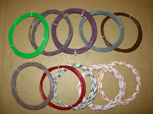 205 Feet 20 Awg Silver Teflon Ptfe Hook Up Wire asst Colors And Lengths 19 32