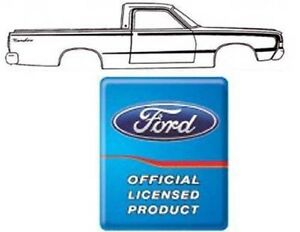 1968 Ford Ranchero Reverse C Stripe Kit Ford Licensed 4 Colors Available