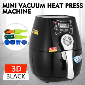 3d Mini Vacuum Heat Press Machine Black Hq Printing Temp Control 1300w Printer