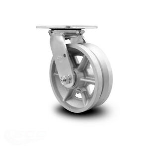 Scc 6 X 2 V Groove Semi Steel Wheel Swivel Caster 1 200lbs caster