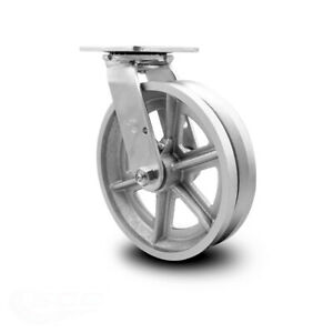 Scc 8 X 2 V Groove Semi Steel Wheel Swivel Caster 1 400lbs caster