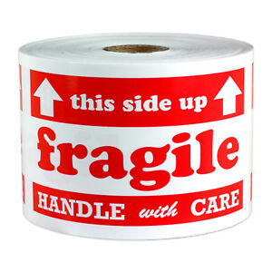 Fragile Labels Handle Caution Sign Arrow This Side Up Shipping Stickers 3 x5