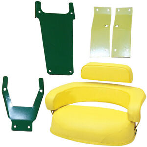 3 pc Seat Cushion Set W Sbk400 Brackets For John Deere 2010 2510 2520 3010 3020