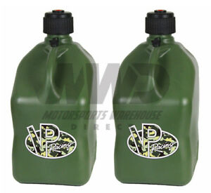 2 Pack Camo Vp Racing 5 Gallon Square Fuel Jugs utility Water jerry Gas Can