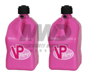 2 Pack Pink Vp 5 Gallon Square Racing Fuel Gas Can utility Water Jug jerry