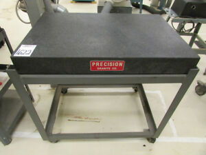 Precise Granite Surface Plate 36 X 24 X 4 With Stand