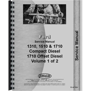 Service Shop Manual For Ford 1310 Compact Tractor