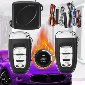 Start Push Button Remote Starter Keyless Entry Alarm System Engine High Quality