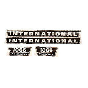 Fa606s Hood Decal Set For Case Ih International Tractor 1066