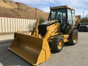 Cat 420 D Backhoe 4x4 Loaded Ac Pilot Controls 4 1 Bucket Ex Ca City