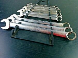 aa560 Snap On 9 Of 11pc Oex711 Standard 12 Point Combination Wrench Set