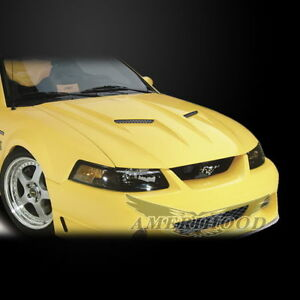 Fiberglass Hood For 1999 2004 Ford Mustang T3 Mach 2 Stalker Style