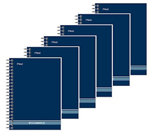 Mead Cambridge 4 3 4 X 7 Fashion Notebook Pack Of 6 navy