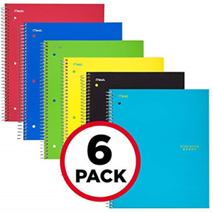 Five Star Spiral Notebooks 1 Subject Graph Ruled Paper 100 Sheets 11 X 6