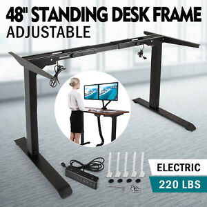 Electric Standing Desk Frame Sit Stand Table Steel Adjustable Height High Grade