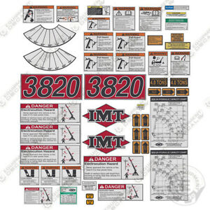 Imt Truck Crane 3820 Series Full Safety Decal Kit With Logos