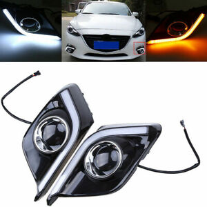 Led Daytime Running Light For Mazda 3 Axela Car Fog Lamp Drl 2013 2014 2015 2016