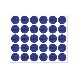 Size 11 5 Sticker Shoes Retail Store Clothing Shop Tag Label 0 75 Round 10pk