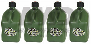 4 Vp Racing Camo 5 Gallon Square Fuel Jugs utility Water Container jerry Gas Can