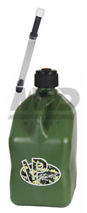Vp Racing Camo 5 Gallon Square Fuel Jug deluxe Fill Hose water jerry Gas Can