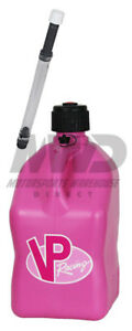 Vp Racing Pink 5 Gallon Square Fuel Jug deluxe Fill Hose water jerry Gas Can