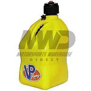 Vp Racing Yellow 5 Gallon Square Fuel Jug utility Water Container jerry Gas Can