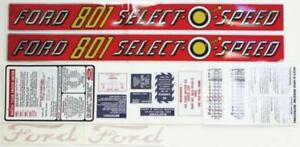 Complete Decal Set For Ford Tractor 801 Select o speed vinyl Cut