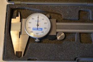 Vintage Fowler Caliper 4 Way Measurement Tool 6 Stainless 13701322