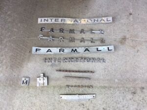 11 Mccormick Farmall Tractor Ih Chrome Hood Side Panel Display Emblem Emblems